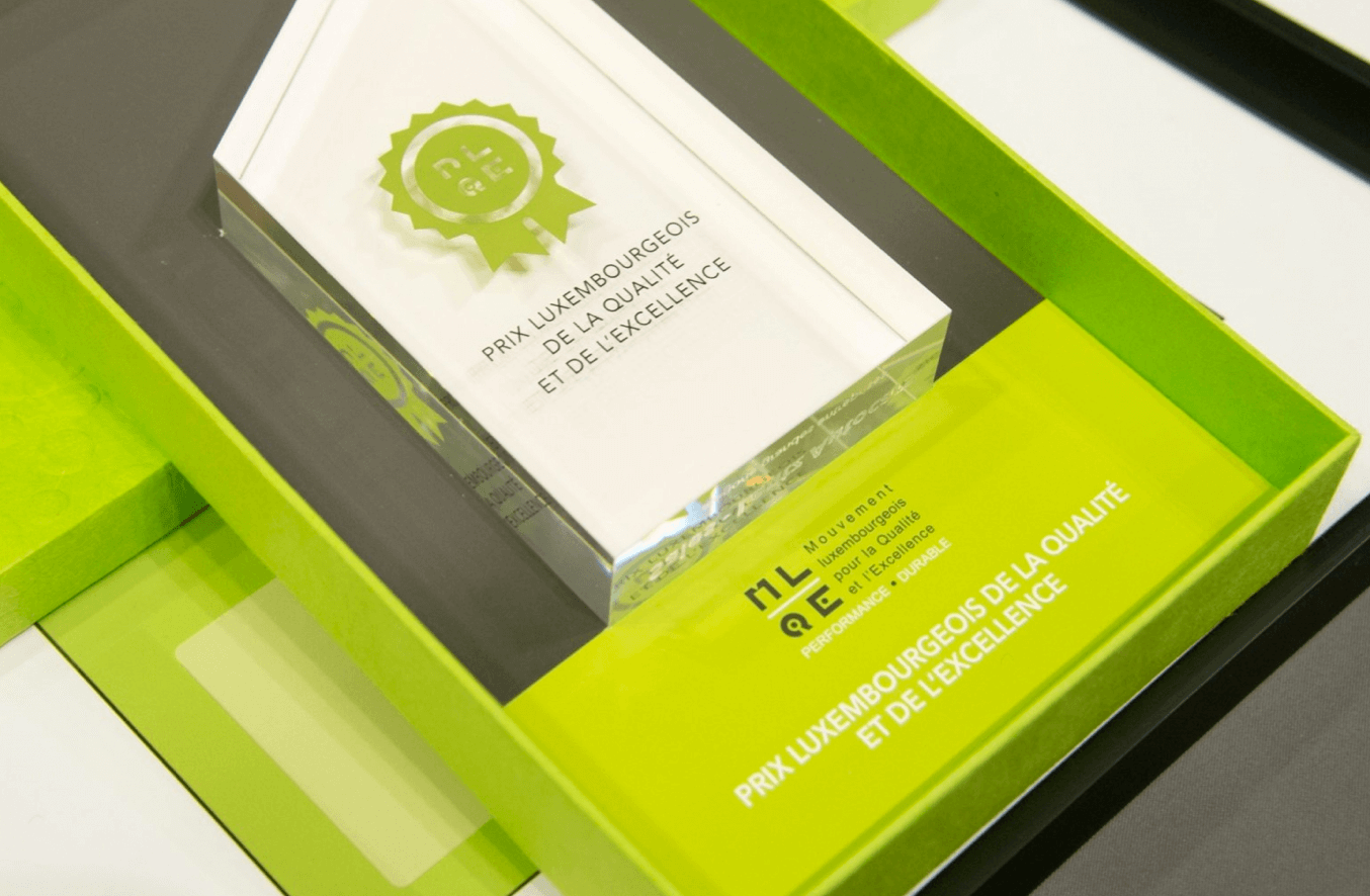 UP trace, Prix Luxembourgeois pour la Qualité et l'Excellence 2014 !