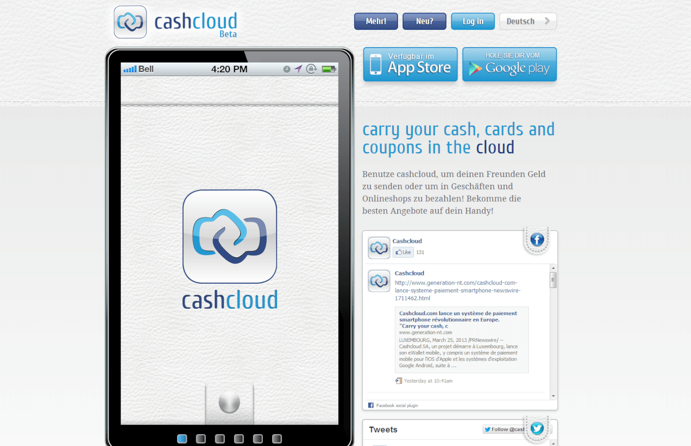 cashcloud, Banking IT Innovation Award 2014 !