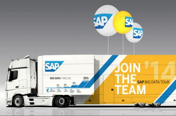 Le SAP nouveau est arrivé. Son ' Innovation' truck au Luxembourg le 9 juin