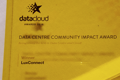 LuxConnect reçoit le Data Centers Community Impact Award