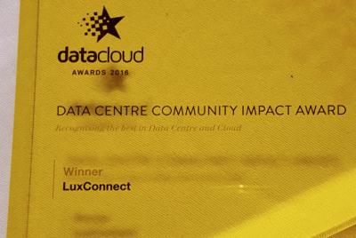 LuxConnect reçoit le Data Centers Community Impact Award