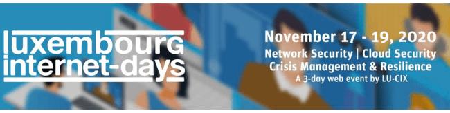 🟧 EVENT ▪️ Luxembourg Internet days I17-19 Novembre