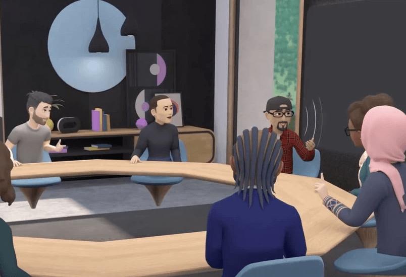 Oculus Horizon Workrooms est une solution de collaboration à distance en réalité virtuelle. Elle permet de réunir jusqu'à 16 personnes (représentées par des avatars) dans une salle de réunion virtuelle pour échanger, partager des documents et prendre des décisions.